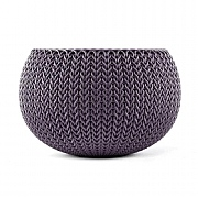 Stewart Garden Knit Collection Planter 28cm - Smoked Purple