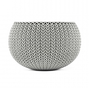 Stewart Garden Knit Collection Planter 28cm - Cloudy Grey