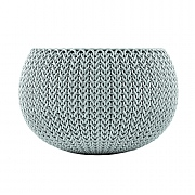 Stewart Garden Knit Collection Planter 28cm - Misty Blue