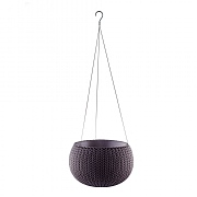 Stewart Garden Knit Collection Hanging Planter 28cm - Smoked Purple