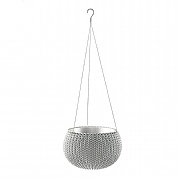 Stewart Garden Knit Collection Hanging Planter 28cm - Cloudy Grey