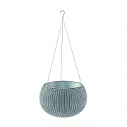 Stewart Garden Knit Collection Hanging Planter 28cm - Misty Blue