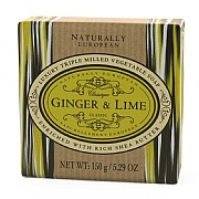 Naturally European Ginger & Lime Soap Bar 150g