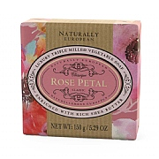 Naturally European Rose Petal Soap Bar 150g