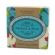Naturally European Freesia & Pear Soap Bar 150g