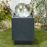 Kelkay Vortex Sphere Water Feature with LED Lights