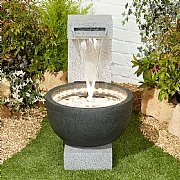 Kelkay Solitary Pour Water Feature with LED Lights