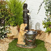 Kelkay Puppy & Friend Water Feature with LED Light