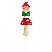 Gnome on Toadstool Luvlie Garden Stake