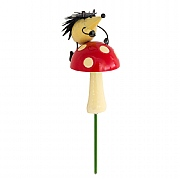 Hedgehog on Toadstool Luvlie Garden Stake