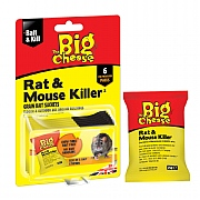 The Big Cheese Rat & Mouse Killer Grain Bait Sachets (6x25g)