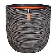 Cadix Capi Nature Anthracite Ball Planter Rib NL 35x34cm