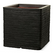 Cadix Capi Nature Black Square Planter Row NL 40x40x40cm