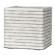 Cadix Capi Nature Ivory Square Planter Row NL 30x30x30cm