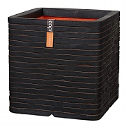 Cadix Capi Nature Dark Brown Square Planter Row NL 30x30x30cm