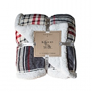 Kilburn & Scott Luxurious Sherpa Throw - Red & Grey Check