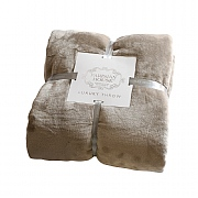 Parisian House Luxury Fleece Throw - Taupe