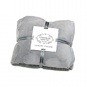 Parisian House Luxury Fleece Throw - Grey