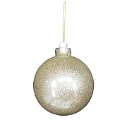 Gisela Graham Gold Lurex Glass Bauble 80mm