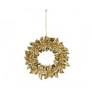 Gisela Graham Gold & Silver Glitter Wreath Tree Decoration