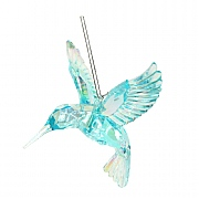 Gisela Graham Pale Blue Acrylic Hummingbird Tree Decoration