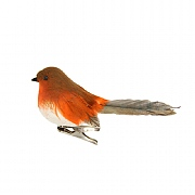 Gisela Graham Feather Robin on Clip Tree Decoration