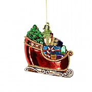 Gisela Graham Acrylic Sleigh with Parcels Tree Decoration