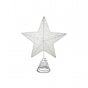 Gisela Graham Iridescent Glitter Mesh 5-Point Tree Top Star