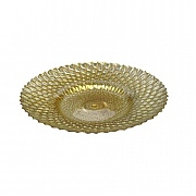 Gisela Graham Honeycomb Gold Glass Decorative Plate