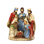 Gisela Graham Coloured Ceramic Nativity Ornament