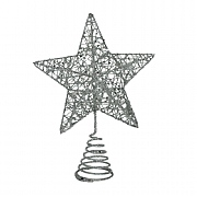 Gisela Graham Silver Wire Mesh Tree Top Star