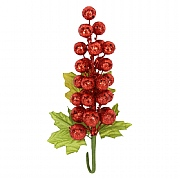 Gisela Graham Red Glitter Berry Cluster