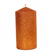 Gisela Graham Copper Glitter Cylinder Candle