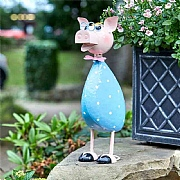 Smart Garden Polka Pig Metal Garden Ornament