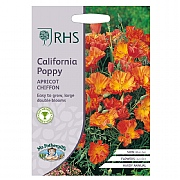 RHS California Poppy Apricot Chiffon Seeds