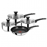 Tefal Jamie Oliver Stainless Steel 4 Piece Pan Set