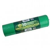 Garland Garden Sacks Green 70L (10 Per Roll)