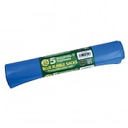 Garland Rubble Sacks Blue 35L (5 Per Roll)