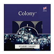 Colony Starry Night Tealights Box of 9