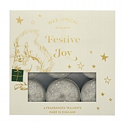 Wax Lyrical Festive Joy Crystal Top Tealights Box of 9