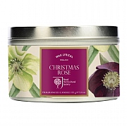 Wax Lyrical RHS Christmas Rose Candle Tin