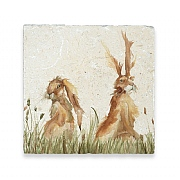 Kate of Kensington Family of Hares Medium Marble Platter