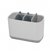 Joseph Joseph Easy-Store Toothbrush Caddy White & Grey