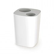 Joseph Joseph Split Bathroom Waste Separation Bin White & Grey