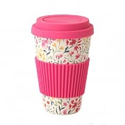 Cambridge Cadence Bamboo Eco Travel Mug - Pink