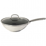 Thomas Cook & Pour Stir Fry Pan With Glass Lid 28cm