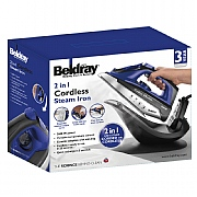 Beldray 2-in-1 Cordless Steam Iron 2600W - Blue