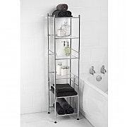 Beldray 6-Tier Chrome Bathroom Storage Unit