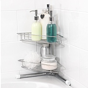 Beldray 2-Tier Chrome Bath Corner Caddy