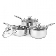 Russell Hobbs Classic Collection 3 Piece Saucepan Set